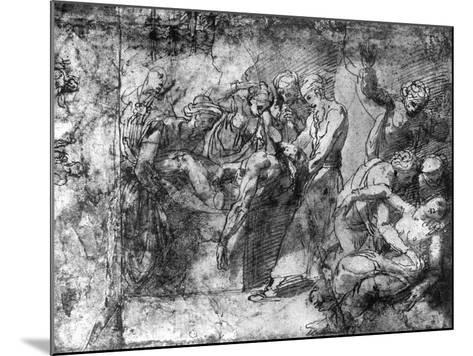 Study for an Entombment, Attributed to Raphael, 1913-Raphael-Mounted Giclee Print