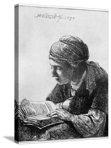 Woman Reading, 1634-Rembrandt van Rijn-Stretched Canvas Print