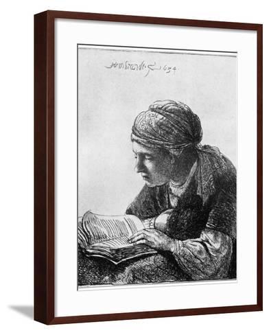 Woman Reading, 1634-Rembrandt van Rijn-Framed Art Print
