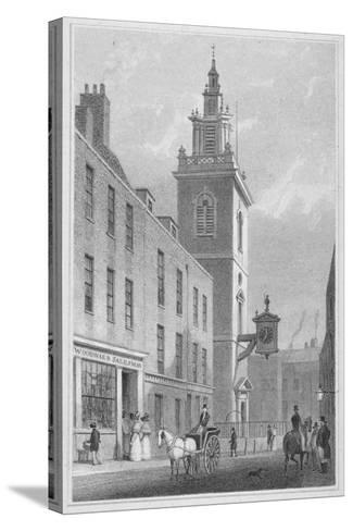 View of the Church of St James Garlickhythe, City of London, 1830-R Acon-Stretched Canvas Print