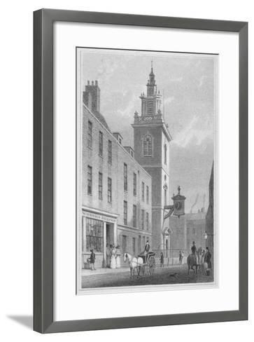 View of the Church of St James Garlickhythe, City of London, 1830-R Acon-Framed Art Print
