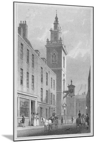 View of the Church of St James Garlickhythe, City of London, 1830-R Acon-Mounted Giclee Print