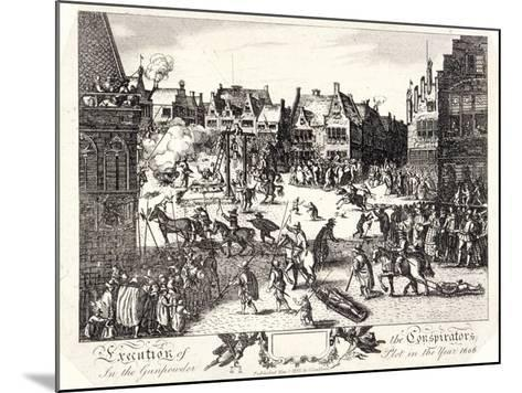 Execution of the Conspirators in the Gunpowder Plot in Old Palace Yard, Westminster, 1606-R Romney-Mounted Giclee Print