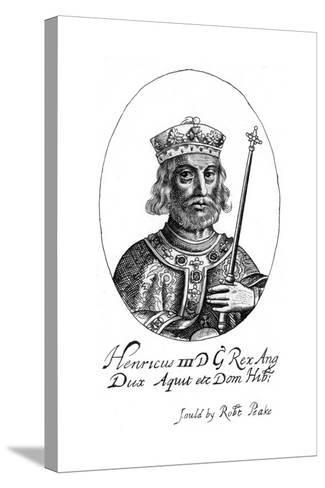 Henry III of England-Robert Peake-Stretched Canvas Print