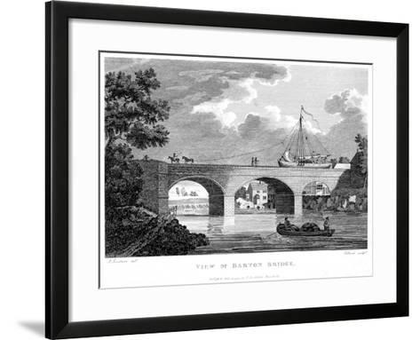 Barge Crossing the Barton Aqueduct over the Irwell, Salford, Greater Manchester, C1794-Robert Pollard-Framed Art Print