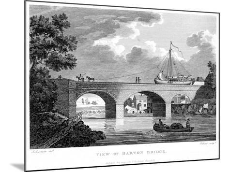 Barge Crossing the Barton Aqueduct over the Irwell, Salford, Greater Manchester, C1794-Robert Pollard-Mounted Giclee Print