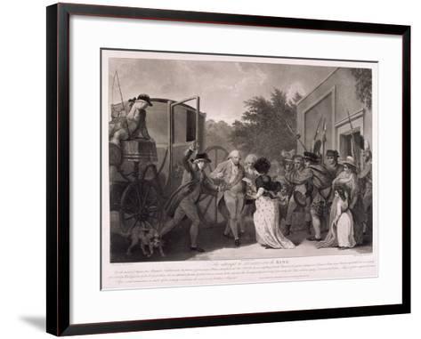 Assassination Attempt on King George III, 1786-Robert Pollard-Framed Art Print