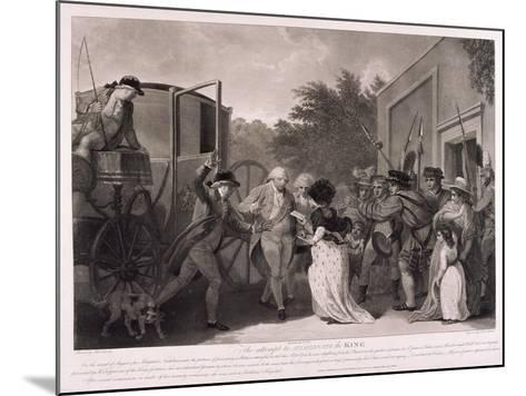 Assassination Attempt on King George III, 1786-Robert Pollard-Mounted Giclee Print