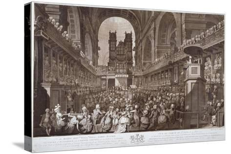 Service of Thanksgiving in St Paul's Cathedral, City of London, 1789-Robert Pollard-Stretched Canvas Print
