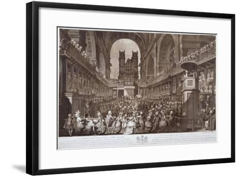 Service of Thanksgiving in St Paul's Cathedral, City of London, 1789-Robert Pollard-Framed Art Print