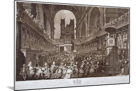 Service of Thanksgiving in St Paul's Cathedral, City of London, 1789-Robert Pollard-Mounted Giclee Print
