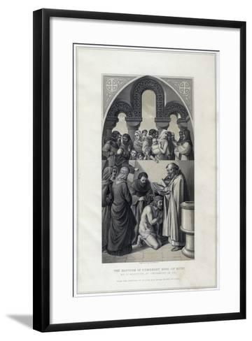 The Baptism of Ethelbert King of Kent, by St Augustine, Canterbury in 597-R Anderson-Framed Art Print