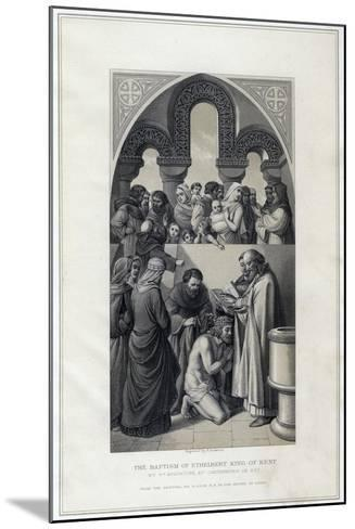 The Baptism of Ethelbert King of Kent, by St Augustine, Canterbury in 597-R Anderson-Mounted Giclee Print