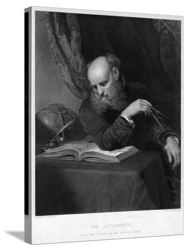 The Astronomer, 19th Century-R Bell-Stretched Canvas Print