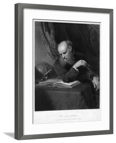 The Astronomer, 19th Century-R Bell-Framed Art Print