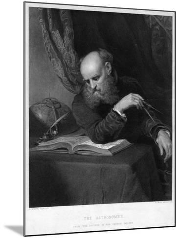 The Astronomer, 19th Century-R Bell-Mounted Giclee Print
