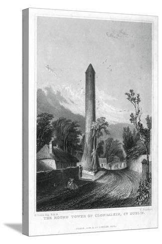 The Round Tower of Clondalkin, County Dublin, Ireland, 1829-R Brandard-Stretched Canvas Print