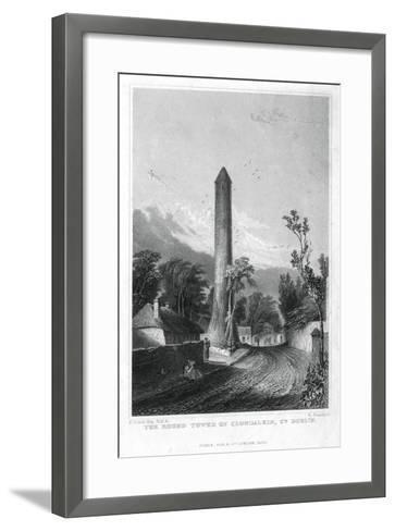 The Round Tower of Clondalkin, County Dublin, Ireland, 1829-R Brandard-Framed Art Print
