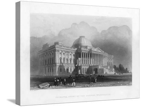 Principal Front of the Capitol, Washington, C1820-R Brandard-Stretched Canvas Print