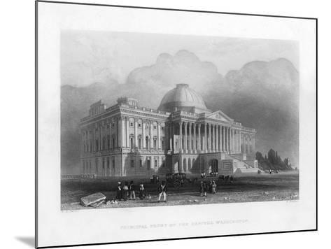 Principal Front of the Capitol, Washington, C1820-R Brandard-Mounted Giclee Print