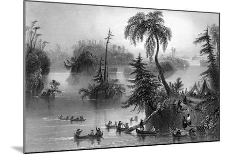 Scene Among the Thousand Isles, Canada, 1842-R Brandard-Mounted Giclee Print