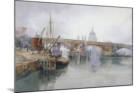Southwark Bridge in Course of Demolition, 1915-Richard Henry Wright-Mounted Giclee Print
