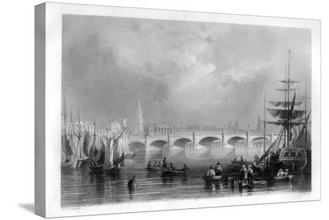 The Bridge and Broomielaw Quay, Glasgow, Scotland, 1886-R Wallis-Stretched Canvas Print