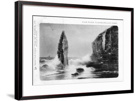 King Rock, Flamborough Head, East Riding, Yorkshire, 1903-Raphael Tuck-Framed Art Print