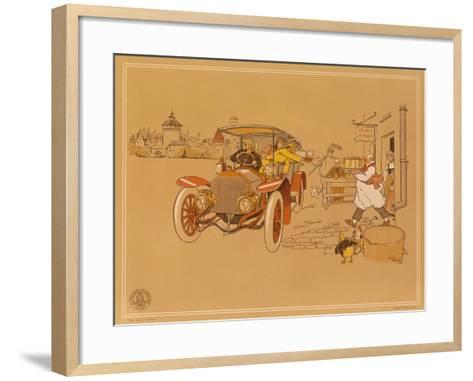 Poster Advertising Berliet Cars, 1906-Ren? Vincent-Framed Art Print