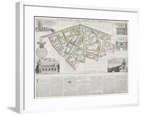 Map of Aldgate Ward, City of London, 1739-RW Seale-Framed Art Print