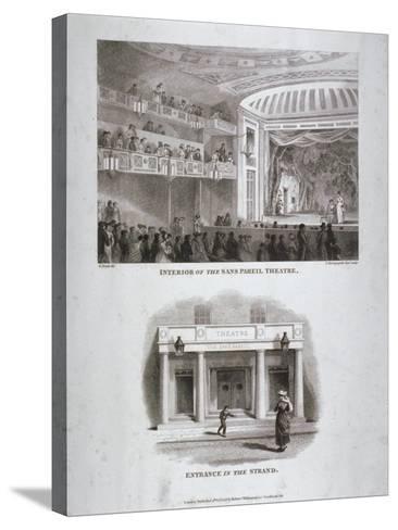 The Sans Pareil Theatre, Strand, Westminster, London, 1816-S Springsguth-Stretched Canvas Print