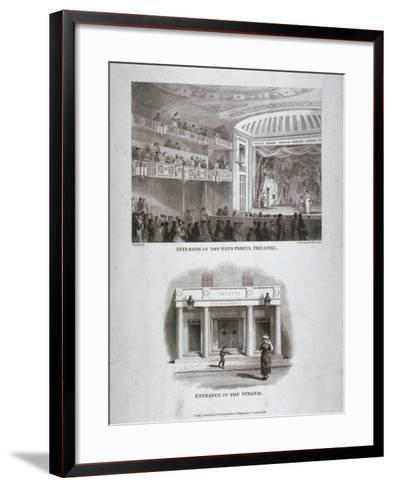 The Sans Pareil Theatre, Strand, Westminster, London, 1816-S Springsguth-Framed Art Print