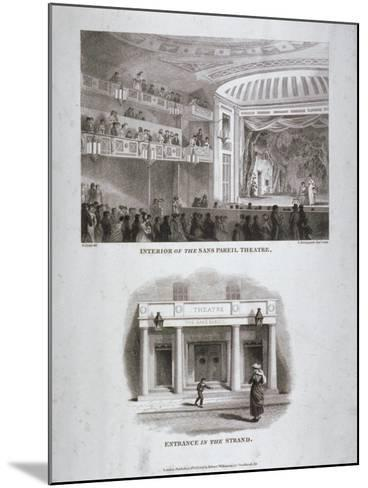 The Sans Pareil Theatre, Strand, Westminster, London, 1816-S Springsguth-Mounted Giclee Print