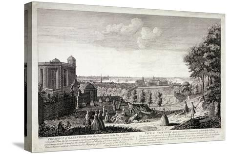 View of Greenwich from the Hill in Greenwich Park, London, C1750-S Torres-Stretched Canvas Print
