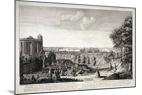 View of Greenwich from the Hill in Greenwich Park, London, C1750-S Torres-Mounted Giclee Print