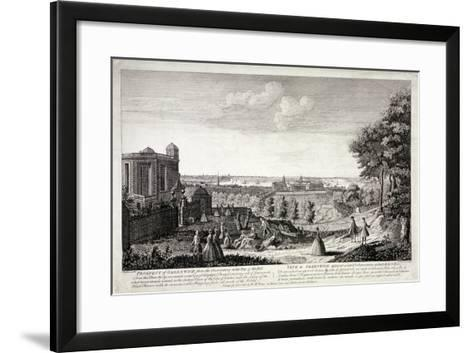 View of Greenwich from the Hill in Greenwich Park, London, C1750-S Torres-Framed Art Print