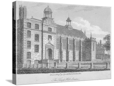 View of Middle Temple Hall from the North-East, Middle Temple, City of London, 1812-S Tyrrell-Stretched Canvas Print