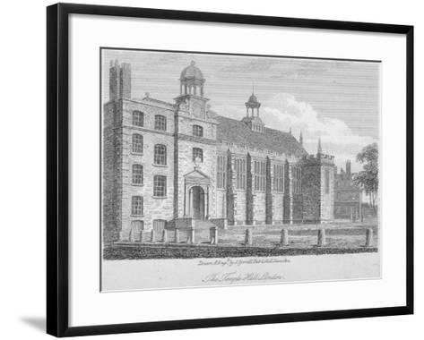 View of Middle Temple Hall from the North-East, Middle Temple, City of London, 1812-S Tyrrell-Framed Art Print
