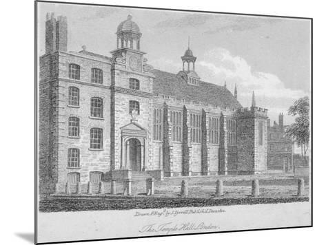 View of Middle Temple Hall from the North-East, Middle Temple, City of London, 1812-S Tyrrell-Mounted Giclee Print