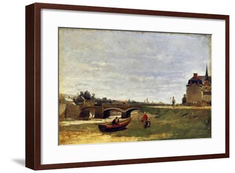 Landscape with a Bridge, Early 1870S-Stanislas Lepine-Framed Art Print