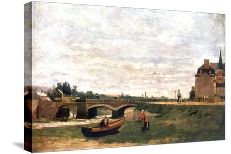 View of the Village, C1855-1892-Stanislas Lepine-Stretched Canvas Print