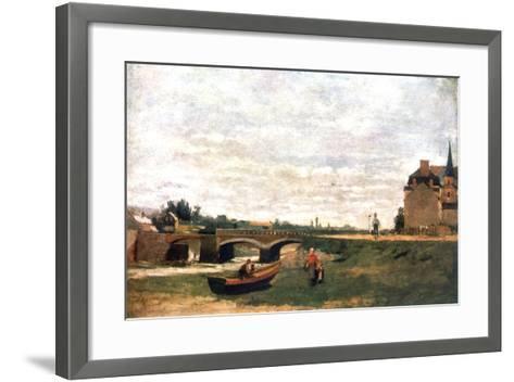 View of the Village, C1855-1892-Stanislas Lepine-Framed Art Print