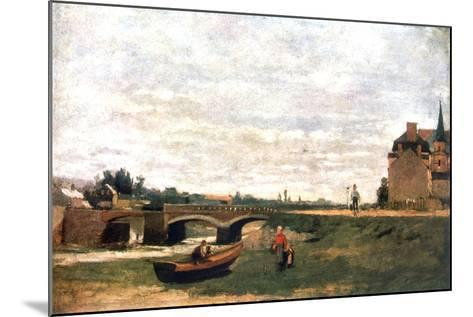 View of the Village, C1855-1892-Stanislas Lepine-Mounted Giclee Print