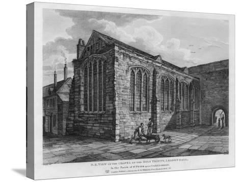 North-East View of the Chapel of the Holy Trinity, Leadenhall, London, 1825-Thomas Dale-Stretched Canvas Print