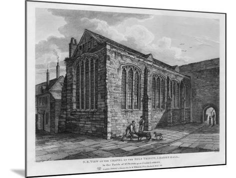 North-East View of the Chapel of the Holy Trinity, Leadenhall, London, 1825-Thomas Dale-Mounted Giclee Print