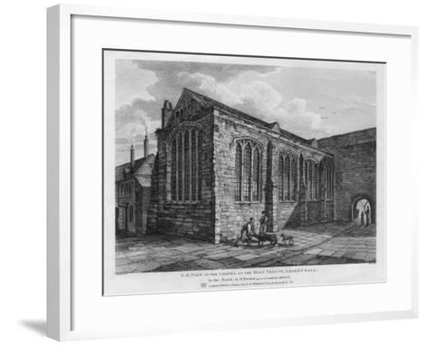 North-East View of the Chapel of the Holy Trinity, Leadenhall, London, 1825-Thomas Dale-Framed Art Print