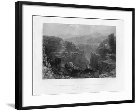 The Monastery of Santa Saba (Mar Sab), Israel, 1841-S Bradshaw-Framed Art Print
