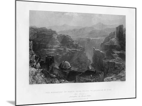 The Monastery of Santa Saba (Mar Sab), Israel, 1841-S Bradshaw-Mounted Giclee Print