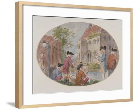View of Anglers Opposite Sadler's Wells Theatre. Finsbury, Islington, London, C1800-S Woodward-Framed Art Print