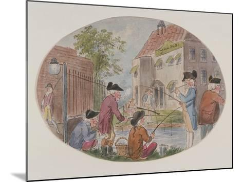 View of Anglers Opposite Sadler's Wells Theatre. Finsbury, Islington, London, C1800-S Woodward-Mounted Giclee Print